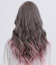 Trendy hair color pastel ends dip dye ideas Hair Dye Colors, Ombre Hair Color, Cool Hair Color, Purple Hair, Grey Ombre, Purple Ombre, Trendy Hair Colour, Brown Hair Pink Ends, Ombre Bob