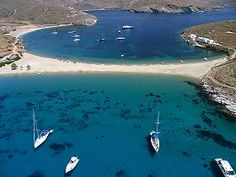 Cyclades Islands Today we are visiting Kithnos or sometimes spelled Kythnos , located just below Kea . Places To Travel, Places To See, Piscina Spa, Karpathos, Places In Greece, Greece Islands, Greece Travel, Beautiful Places, Beautiful Beach