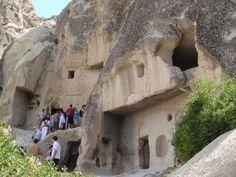 Casas- cueva en La Capadocia (Turquía)