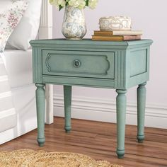 One Allium Way Virginie 1 Drawer Nightstand Diy Wood Projects Furniture, Rustic Furniture, Furniture Makeover, Painted Furniture, Vintage Bedroom Furniture, Cheap Furniture, Kitchen Furniture Table, Furniture, How To Clean Furniture