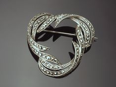 Potional 925 Sterling Silver and Switzerland Marcasite Swan Brooch Pin