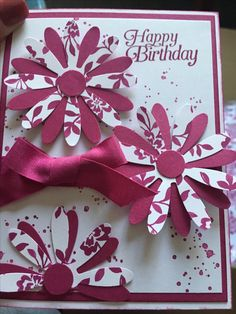 Daisy Delight stamp set and punch.. dsp paper