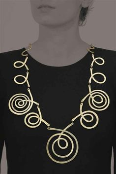 Untitled Necklace |  Alexander Calder. Brass.  ca 1939.  Sold by Christies NY on 12th May 2011 for 602'500.00$