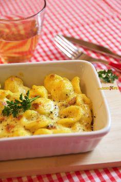 Ricetta Orecchiette Gratinate Con Mascarpone al Curry e Pinoli,Primo piatto,Vegetariana
