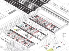 Built by Nervi-Bartoli from the Manifattura Tabacchi was a symbol of the… Daily Meeting, Industrial Sheds, Interior Design Sketches, Urban Analysis, Industrial Machine, Rem Koolhaas, Walled City, Site Plans, Concept Diagram