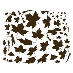 Falling Leaves Wall Decal-Nature Wall Decal, Autumn Wall Art, Falling Leaves, Windy Tree, Maple Leaf
