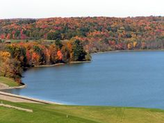 A view of Dorchester Lake. Dorchester is a County owned park that hosts a plethora of activities including swimming, boating, BBQs, and more.