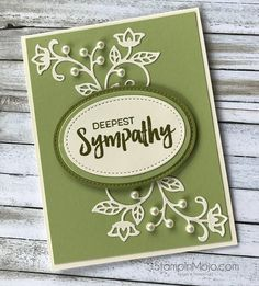 Stampin Up Flourish Thinlits Sympahty Card Michelle Gleeson Stampinup SU Pretty Cards, Love Cards, Scrapbooking, Scrapbook Cards, Mary Fish, Fisher, Stamping Up Cards, Rubber Stamping, Get Well Cards