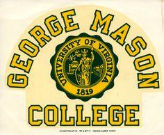 George Mason College, decal, ca. 1970. Copyright George Mason University