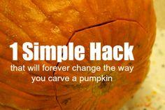Simple Pumpkin Hack by happyhooligans #Halloween #Pumpkin_Carving