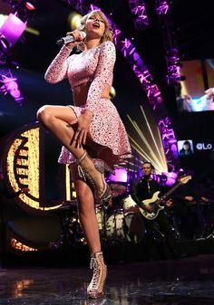 Taylor Swift performing at the 2014 iHeartRadio Music Festival at the MGM Grand Hotel/Casino in Las Vegas, Nevada on September 19, 2014.