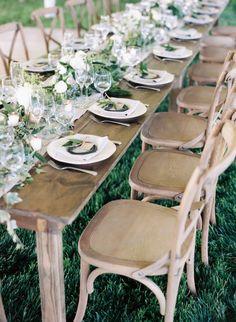 Green and ivory organic real wedding   Wedding Sparrow