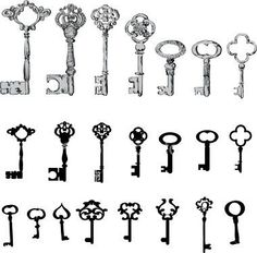 Key tattoos Tattoos | would be cute behind the ear..