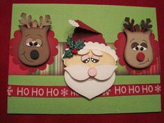 Reindeer, Santa punch art