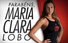 Hoje é aniversário também da nadadora rubro-negra Maria Clara Lobo, que disputou as Olimpíadas #Rio2016! Parabéns!