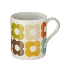 orla kiely multi flower print mug.