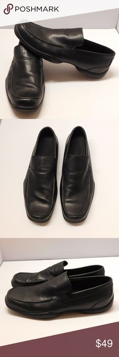 Rockport Xcs Black Leather Loafers Slip-on 13W US Men's Rockport Xcs Black Leather Loafers Slip-on shoes 13W US color: Black   Size:  13w        Style: APM26881 needs polish Condition: In Good Condition Rockport Shoes Loafers & Slip-Ons