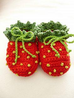 Strawberry Booties by TeenyWeenyDesign/Adrianne, via Flickr