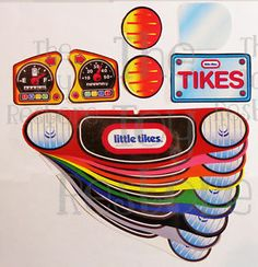 New Replacement Decals Stickers for Vtg Little Tikes Cozy Coupe Car Choice | eBay
