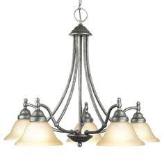 Woodbridge Lighting Anson 5-light Greystone Chandelier - Overstock Shopping - Great Deals on Woodbridge Lighting Chandeliers & Pendants