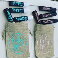 Items similar to SET Of 4 Amber Glass Roller Bottles Essential Oil Glass Labels Stainless Steel Ball Burlap Bag Permanent Glitter Labels on Etsy Glass Roller Bottles, Roll On Bottles, Vinyl On Glass, Young Essential Oils, Burlap Sacks, Marianne, Young Living Oils, Cricut Vinyl, Amber Glass