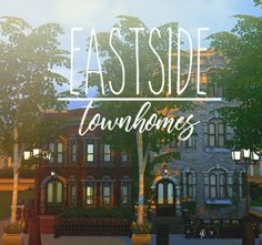 Sims 4 Updates: IchoSim - Houses and Lots, Residential Lots : Eastside Townhomes, Custom Content Download!