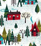 Holiday Inspirations™ Christmas Fabric-Christmas Skiin...