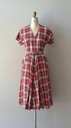 Wasem plaid dress / vintage plaid 50s dress / cotton by DearGolden, $138.00