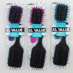 Mid Size and Mini Paddle Brush Set. Two Brushes Per Pack. 3 Packs per order. >>> Click on the image for additional details.
