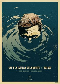 11Invisibles' Gaf Y La Estrella De La Muerte #screenprint #poster thx to gigposters.com