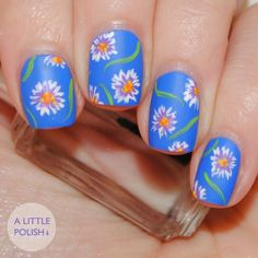 Freehand Floral  Guest Post for Polished to Precision A Little Polish