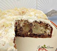 tort cu mere intregi caramelizate_1 Vegan Life, Deserts, Pudding, Sweets, Fruit, Cooking, Anthropologie, Cakes, Food