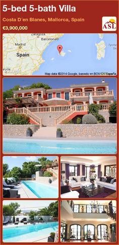5-bed 5-bath Villa in Costa D´en Blanes, Mallorca, Spain ►€3,900,000 #PropertyForSaleInSpain