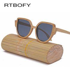 1d4bbf21b897 RTBOFY Wood Sunglasses Women Designer Hand 2017 Glasses Cat Eye Sunglasses  Women -made Frame Mirror Polarized Sun Glasses - Nice Trend Store