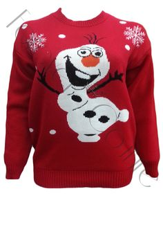 Frozen Olaf Print Christmas Jumper in Red Product Code: 725 Pack of 6 Pieces£8.50 per Piece VAT: 0%