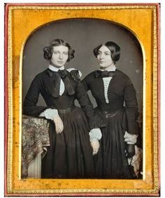 """Two Sisters, One Gloved"" by Beckers & Piard (active 1850s), circa 1850…"
