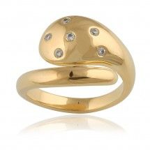 Fluctus Ring in 14 Carat Gold with Diamonds - Gitte Soee Jewellery - Shop Online