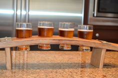 Barrel Stave Beer Flight