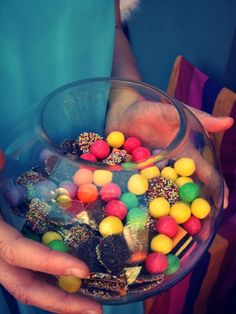 colorful candy bowl