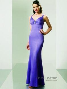 Sheath V-neck Ankle-length Satin Bridesmaid Dresses 114MT8910