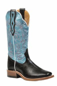 Baby Blue Square Toe Boots