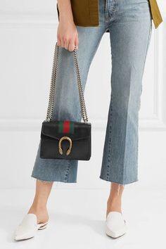 1c089ecbb7d8 Gucci Dionysus Mini Textured-leather Shoulder Bag Black - Gucci Dionysus  Mini - Ideas of