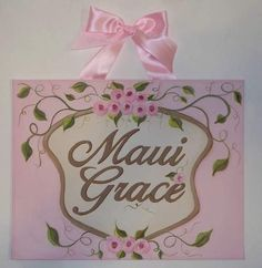 Shabby Cottage Chic custom canvas letter name by sweetartboutique, $39.00