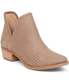 41f52566fe13 Shop for Lucky Brand Bashina Nubuck Leather Stacked Heel Booties at  Dillards.com. Visit