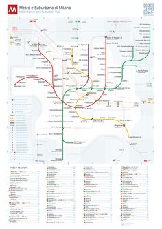 Milan Metro Map by Dmitry Goloub, via Behance