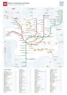 Milan Metro Map by Dmitry Goloub, via Behance