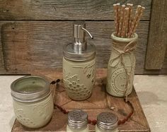 Red Mason Jar Canisters Set Kitchen Mason Jar Decorrustic4You Enchanting Kitchen Jar Set Review
