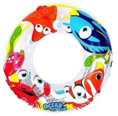 This classic inner tube float is perfect for relaxing or playing in the water on a hot summer day.  Tube features ocean creatures including fish, a crab, and a starfish. Made from 7.2-gauge vinyl for long-lasting fun in the sun. #FREESHIPPING