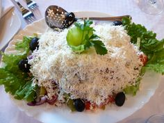 Shopska salad in Bulgaria Shopska Salad, Bulgaria, Food Photography, Rice, Food, Laughter, Jim Rice