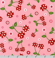 Picnic Party  pink cherry from Pink Light Design by JAQSFabrics, $9.50
